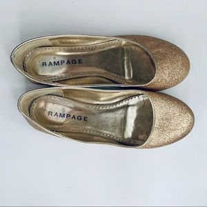 Rampage Gold Sparkly Flats